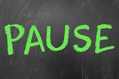 Pause — Stock Photo