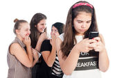 Mean and bullying girls — Stock Photo