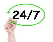 247 or nonstop — Stock Photo