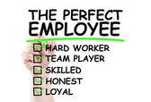 Perfect employee checklist — Stock Photo