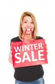 Zimní výprodej — Stock fotografie
