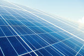 Close up with solar power silicon panels — Stock Photo