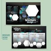 Modern twinkle lights half-fold template brochure — Stock Vector