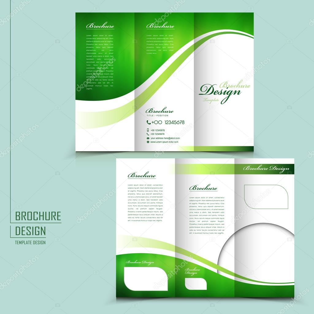 Modern style trifold brochure template for business – Advertising Brochure Template