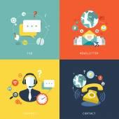 Flat design for customer service concept — Stock Vector
