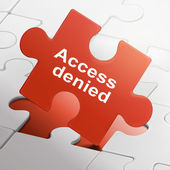 Access denied on red puzzle pieces — Vetorial Stock