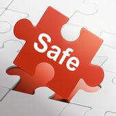Safe word on red puzzle pieces — Vecteur