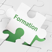 Formation word on white puzzle pieces  — Wektor stockowy