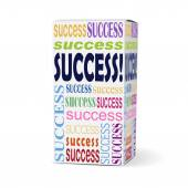 Success word on product box — Stock Vector