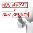 New mindset to new results written by 3d man — Stock Vector #52712845
