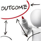 Outcome word written by 3d man  — Vecteur