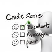 Credit score words written by 3d man  — Vecteur