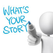 What is your story words written by 3d man  — Vecteur