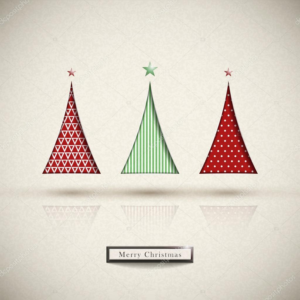 Arbre de Noël créatif design moderne — Image vectorielle kchungtw ...