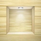 Dřevěná stěna s prázdnou mezeru — Stock vektor