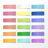 Blank colorful sticky notes set  — Stock Vector