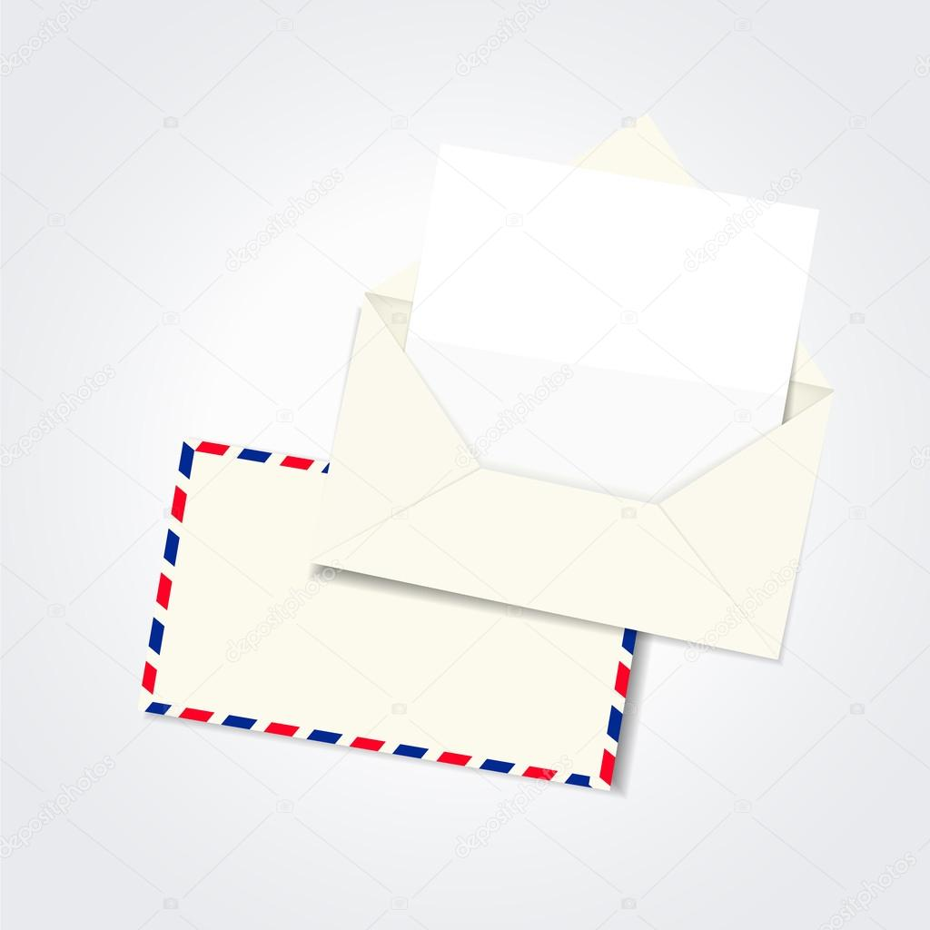 бланк письма в векторе