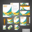Abstract modern corporate identity set template — Stock Vector #53917039