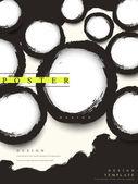 Streszczenie kaligrafia chiński styl biznesu plakat — Wektor stockowy