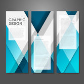 Creative advertising banner template in blue — Stock Vector