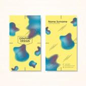 Creativity business card template  — Stock Vector