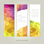 Abstract colorful geometric background banner  — Stock Vector