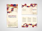 Abstract background tri fold brochure template — Stock Vector