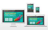 Responsive web design concept in different devices — 图库矢量图片