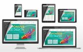 在不同的设备响应 web 设计概念 — 图库矢量图片