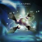 Hi tech metal ball infographic  — Stock Vector