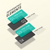 Modern abstract translucent tag infographic elements — Stock Vector