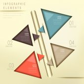 Colorful modern triangle abstract flow chart infographic — Stock Vector