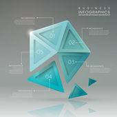 Abstract translucent geometric pentagon infographic elements  — Vetorial Stock