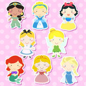 Lovely fairy tale characters set  — Vecteur