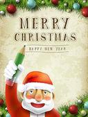 Santa claus pisania wesołych świąt — Wektor stockowy
