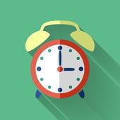 Colorful flat design clock icon — Stock Vector