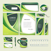 Abstract ecology design for corporate identity — Stock Vector