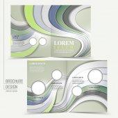 Modern technological design for half-fold brochure — Stockvektor