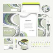 Modern technological design for corporate identity — Stock Vector