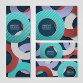 Colorful circle layout design for banners set — Stockvektor