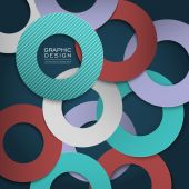 Colorful circle layout design for poster  — Stock Vector
