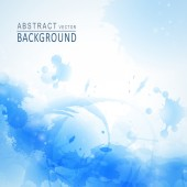 Watercolor style background design for poster template — Stock Vector