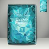 Polygonal background for book cover template — Vettoriale Stock