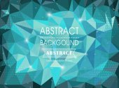 Abstract polygonal background for poster template — Vettoriale Stock