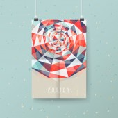 Abstract colorful geometric background design for poster  — Stockvektor