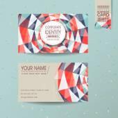 Colorful geometric background design for business card — Stockvektor