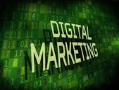Digital marketing words isolated on digital background — Stock vektor