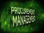 Procurement management words isolated on digital background  — Stock Vector