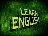 Learn English words isolated on digital background  — Stockvektor