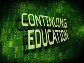 Continuing education words isolated on digital background  — Stock Vector